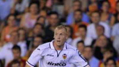 Mathieu hizo el gol del triunfo de Valencia.
