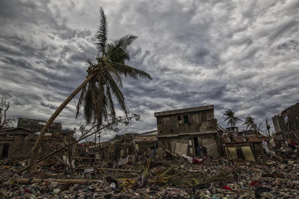 On the water front of Jeremie where houses were battered by the storm su...