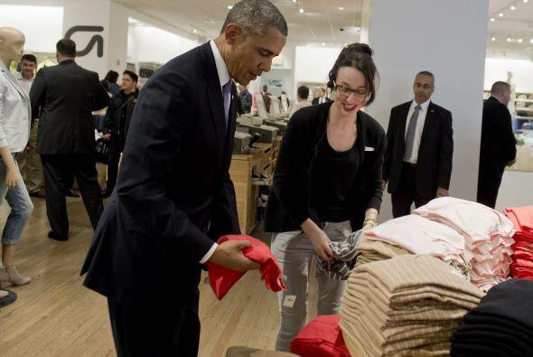 Obama se dirigió a la empleada Susan Panariello a la que dijo que estaba...