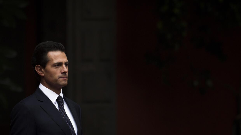 El presidente mexicano, Enrique Peña Nieto, en Palacio Nacional.
