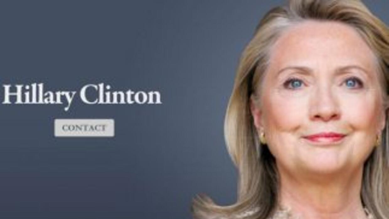Así se ve el nuevo sitio web de Hillary Clinton.