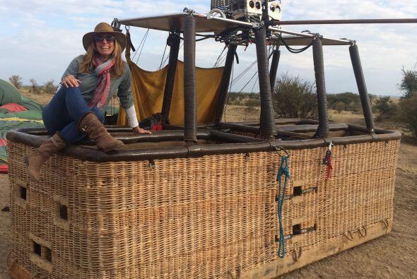 """""""Volamos en globo aerostático sobre el Serengeti, fue precioso"""", dijo la..."""