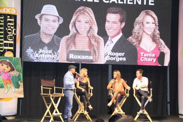 El panel caliente con Roxana y Jose Antonio acompañados por Tanya Charry...