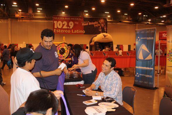 Otro que estuvo muy contento de compartir fue Felipe Valenzuela, present...