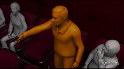 Animación muestra cómo mataron a un hombre por textear en un cine en Flo...