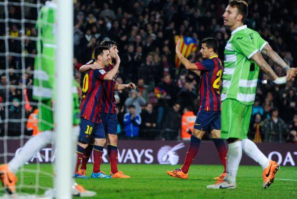 Doblete de Messi y goleada del Barcelona por 4-0 para darle forma a la e...
