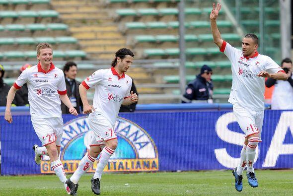 El Chievo abriò el marcador gracias a un tanto de Sergio Pellissier, per...