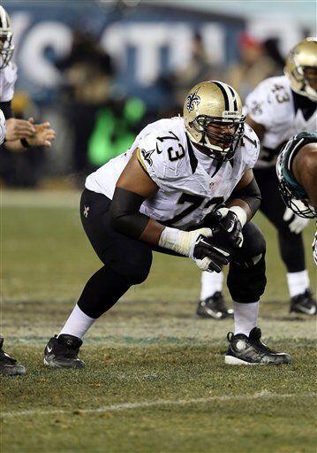 Jahri Evans, guardia ofensivo de los New Orleans Saints (AP-NFL).