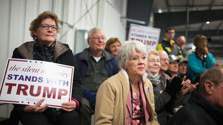 """""""La mayoría silenciosa está con Trump"""", es una de las frases del magnate"""