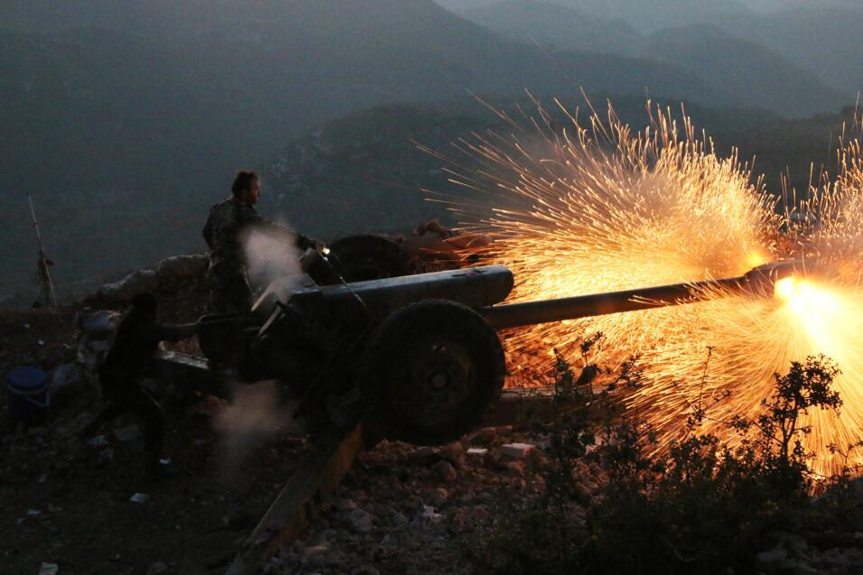 Cruentos combates en Siria de las tropas del gobierno con apoyo aéreo ruso