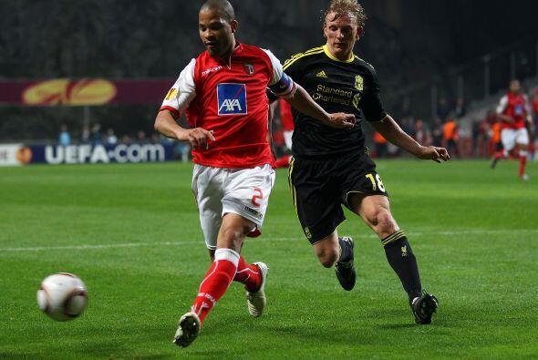 El Liverpool visitó el campo del Braga de Portugal.