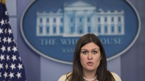 La portavoz Sarah Huckabee Sanders es hija del gobernador de Ohio, Mike...