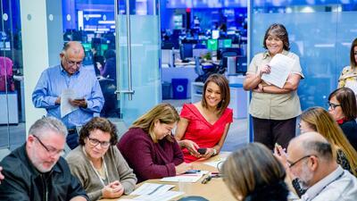 Imágenes del feliz debut de Ilia Calderón en el Noticiero Univision