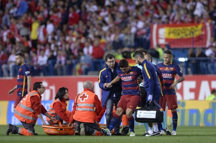 Cronología de la lesión de Luis Suárez
