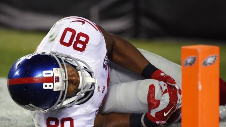 Seria lesión del receptor de Giants ante los Eagles que lo dejó fuera de...