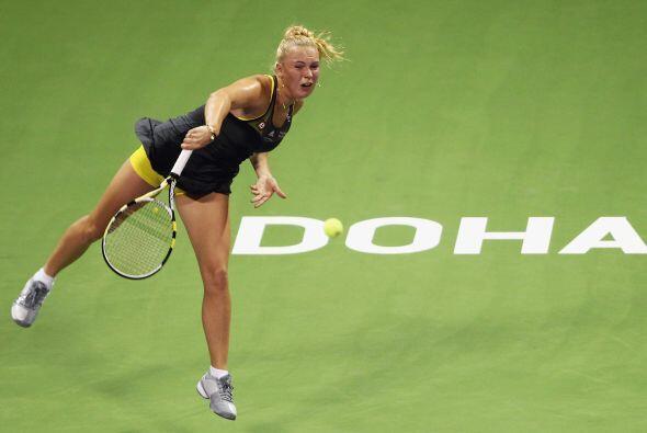 Wozniacki nunca se vio amenazada y sacó ventaja de 3-0 en el primer set.