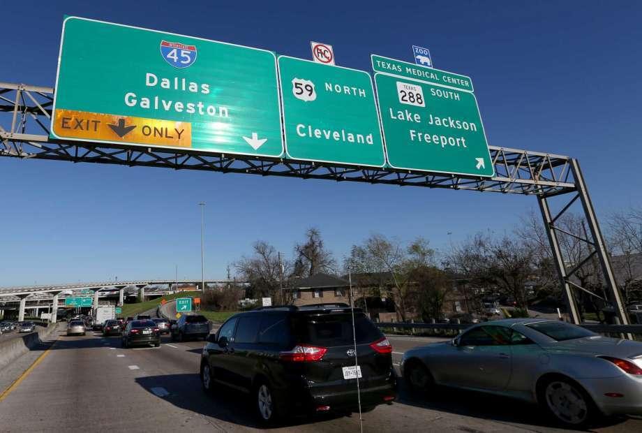 La segunda más peligrosa es la I-45 de Dallas a Galveston, en Tex...