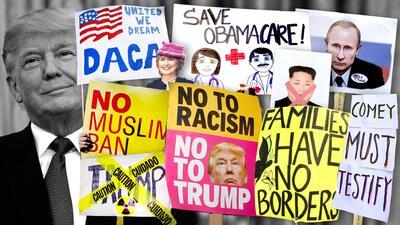 Algunos de esos temas que ocupan a Donald Trump y su presidencia.