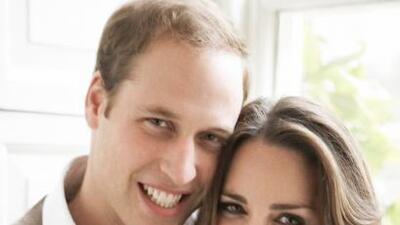 Las fotografías oficiales del príncipe William y su prometida Kate Middl...