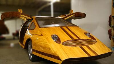 Splinter, un auto real hecho de madera
