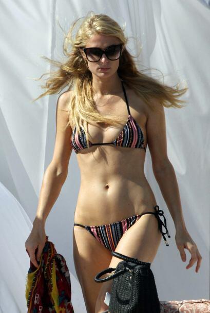 Puede que sea una de las flaquitas de la farándula, pero Paris Hilton ti...