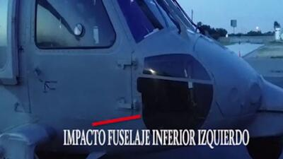 Atacan helicóptero militar en México