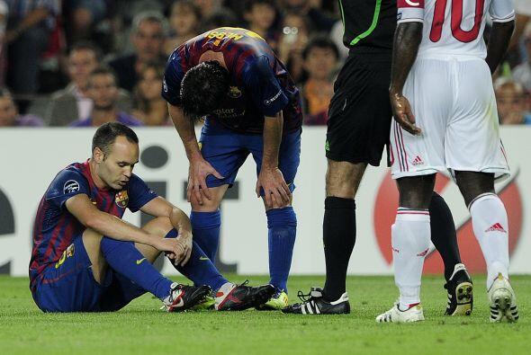 El jugador campeón del mundo sintió un fuerte dolor y automaticamente pi...