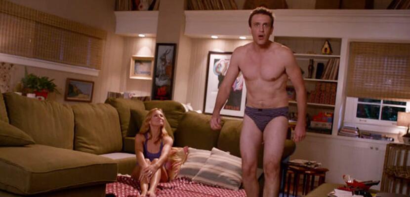 Aquí vemos a Jason Segel en su cinta 'Sex Tape' con Cameron Diaz.