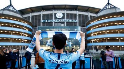 El color del Manchester City ante el Olympique de Lyon en la Champions League