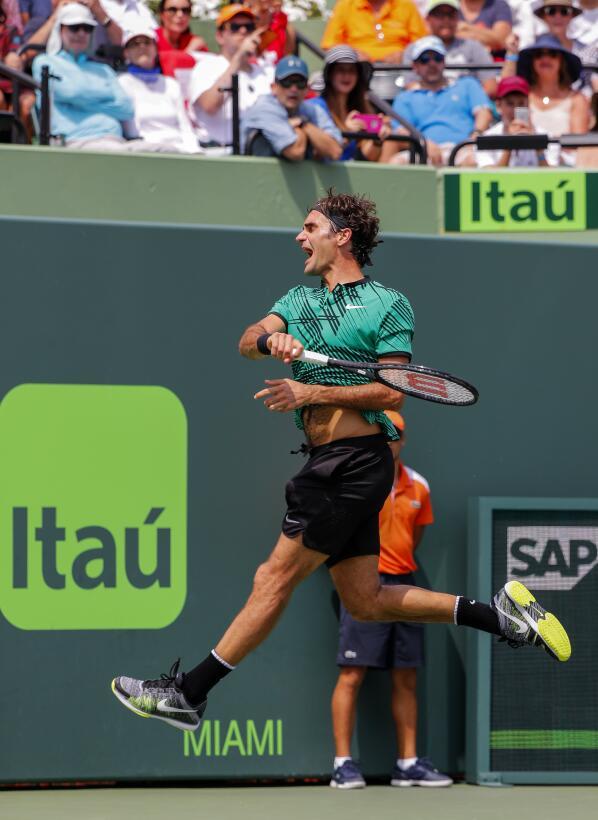 Roger Federer, el contudente campeón del ATP Miami Open 2017 63626764415...