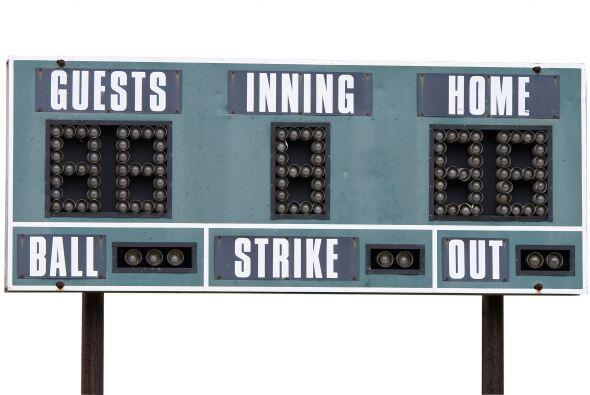Un tablero para simular el marcador del partido, también podría ser una...