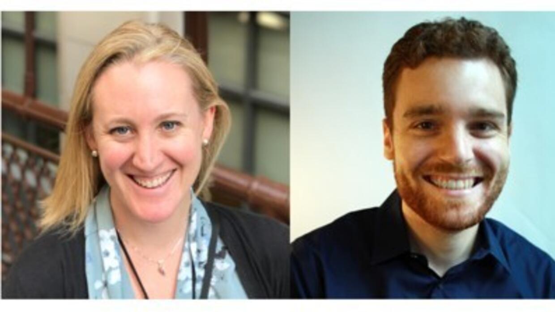 De izquierda a derecha: Leah Mooney, Kyle Whitehead y Michael Agunloye.