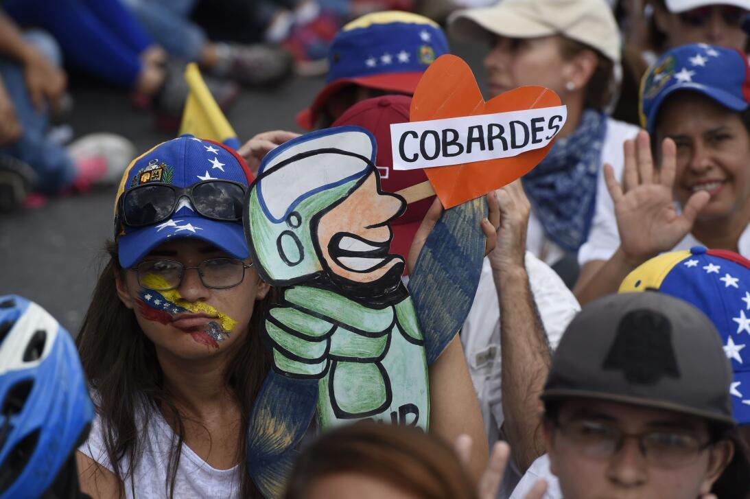 Cobardes - Protesta en Venezuela