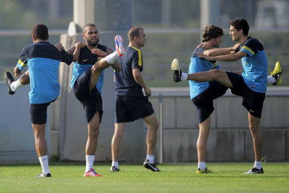 El Barcelona ya contó con todos sus jugadores en los entrenamientos de c...