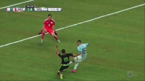 Argentina madruga a México pero Marcos Rojo falla increíblemente ante Muñoz