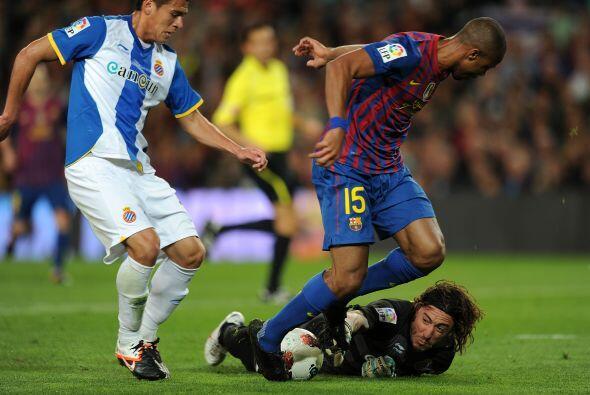 Barcelona jugó su último derbi, ante el Espanyol, de la ma...