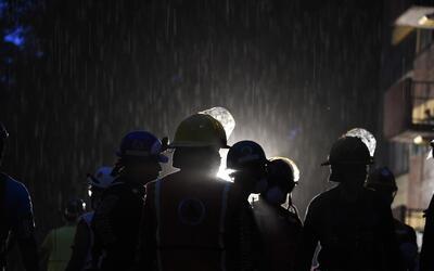 Las lluvias que ahora caen sobre la capital mexicana podrían comp...