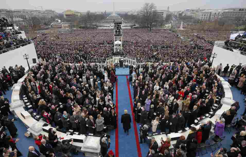 "Trump's ""America first"" vision at inauguration leaves out mention of imm..."