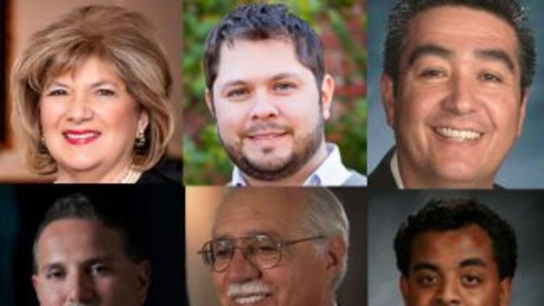 En este debate, participan los cinco candidatos que buscan remplazar a E...
