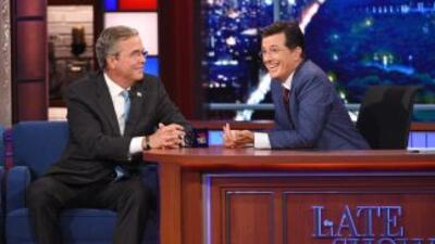 "Jeb Bush en ""The Late Show"" de Stephen Colbert"