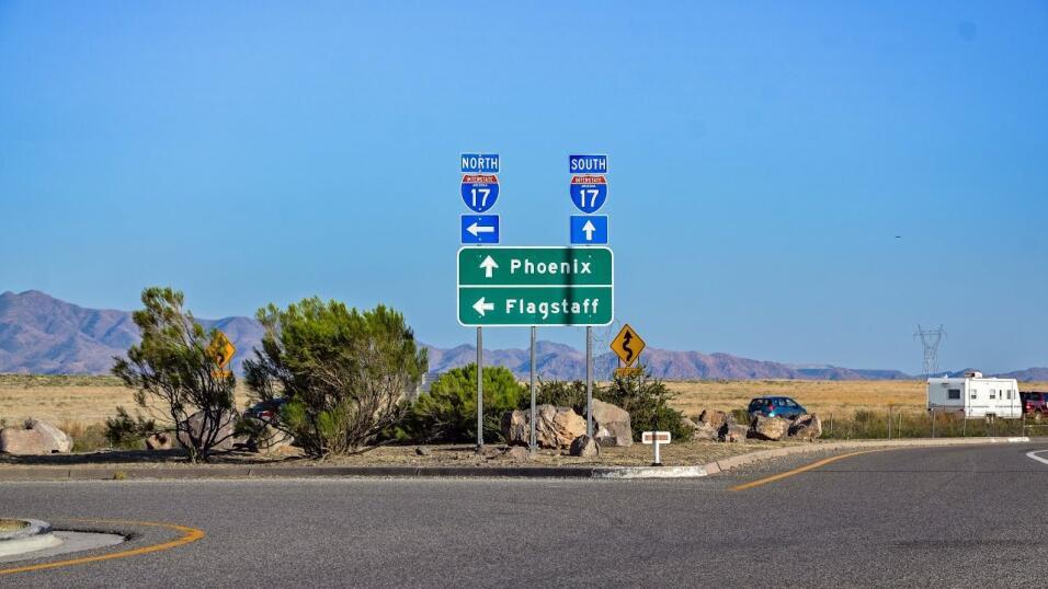 En cuarto lugar se encuentra la I-17 de Arizona, entre Flagstaff y Phoen...