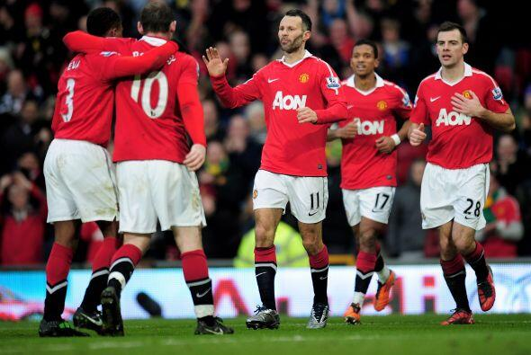 Manchester United destrozó al Birmingham 5 a 0 y se afianzó como líder d...