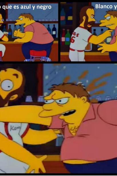 Barney no pudo con tanta presión.