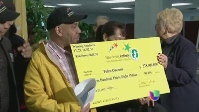 El ganador de la lotería Pedro Quezada tuvo la suerte de su lado