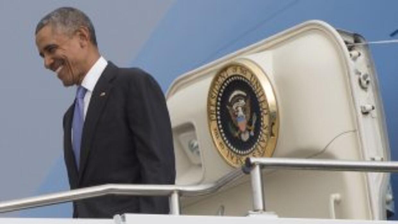 Barack Obama a su llegada a Etiopía.