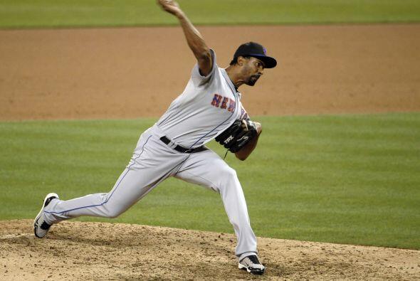 RP. Manny Acosta. Mets de Nueva York. El panameño vio acción en cuatro j...
