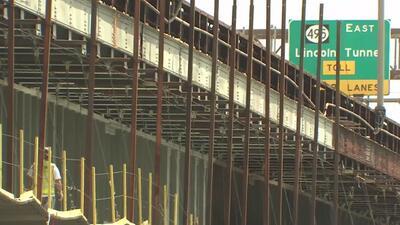 Departamento de Transporte de Nueva Jersey advierte de los efectos de construcción en la ruta 495
