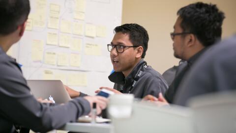 Emprendedores en una sesión de la aceleradora Launchpad de Google en Mou...