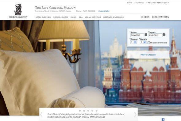 7. THE RITZ-CARLTON DE MOSCÚ, RUSIA- Este hotel forma parte una de las c...