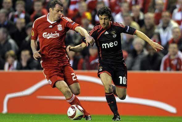 En otro partido el Liverpool se enfrentó al Benfica.